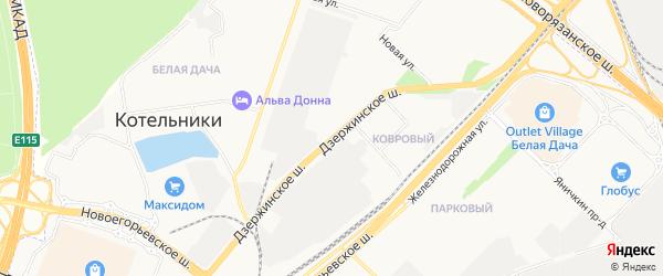 Территория Новорязанское шоссе на карте Котельников с номерами домов