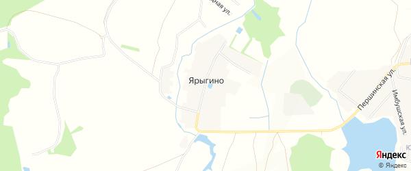 Карта деревни Ярыгино в Московской области с улицами и номерами домов