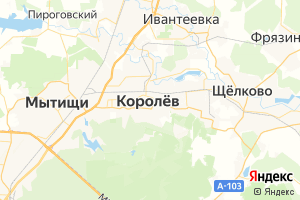 Карта г. Королёв Московская область