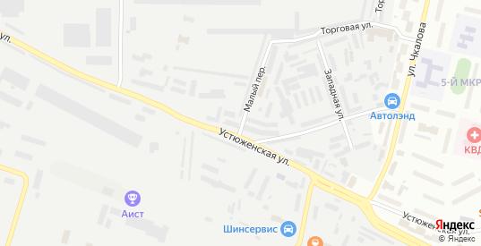 Малый переулок в Череповце с номерами домов на карте. Спутник и схема онлайн