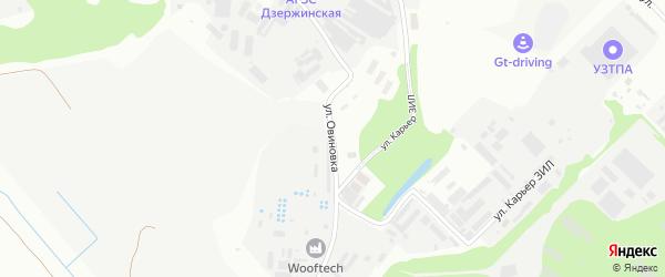 Улица Овиновка на карте Дзержинского с номерами домов