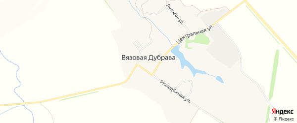 Карта села Вязовой Дубравы в Орловской области с улицами и номерами домов