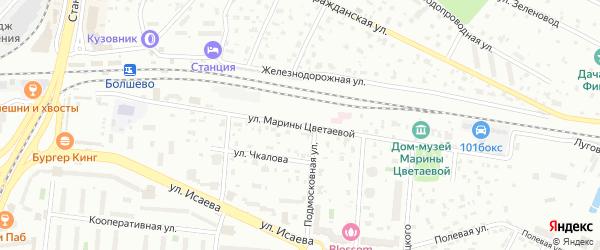 Улица М.Цветаевой на карте Королёва с номерами домов