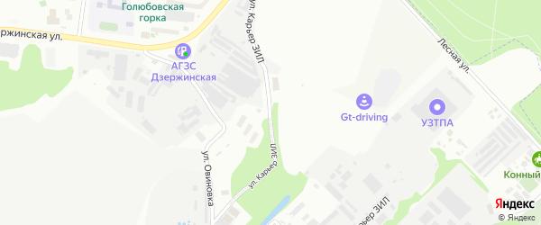 Улица Карьер ЗИЛ на карте Дзержинского с номерами домов