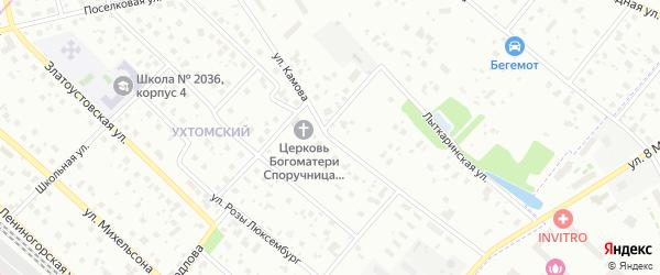 Улица Камова на карте Москвы с номерами домов