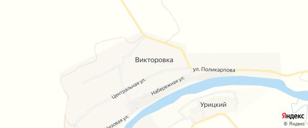 Карта деревни Викторовки в Орловской области с улицами и номерами домов