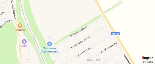 Погромецкая улица на карте Нового Оскола с номерами домов