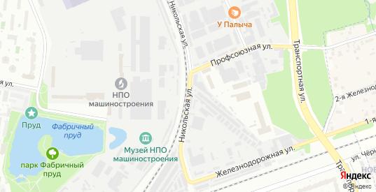 Никольская улица в Реутове с номерами домов на карте. Спутник и схема онлайн