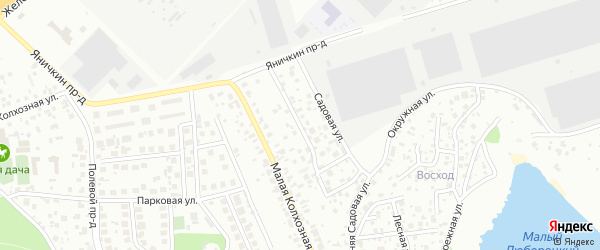 Садовая улица на карте Котельников с номерами домов