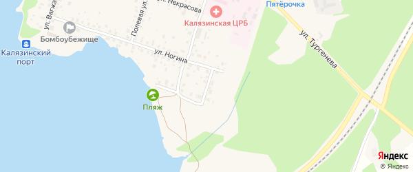 Песчаная улица на карте Калязина с номерами домов