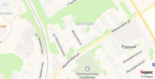 Весенняя улица в Новом Осколе с номерами домов на карте. Спутник и схема онлайн