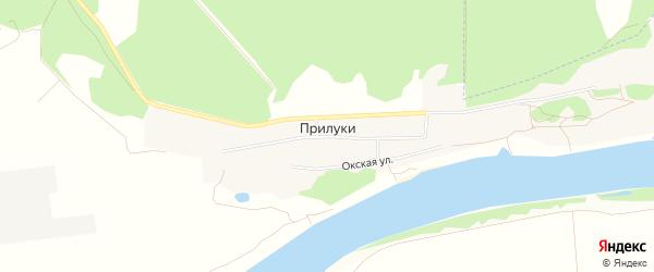 Карта деревни Прилук в Московской области с улицами и номерами домов