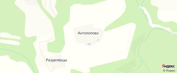 Карта деревни Антолопово в Московской области с улицами и номерами домов