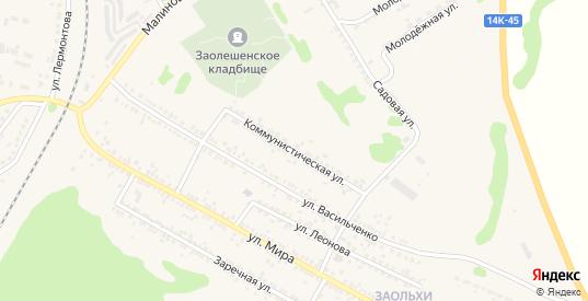 Коммунистическая улица в Новом Осколе с номерами домов на карте. Спутник и схема онлайн