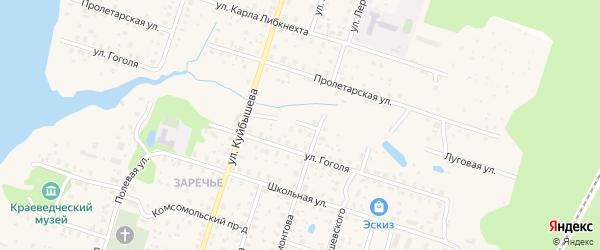 Луговая улица на карте Калязина с номерами домов