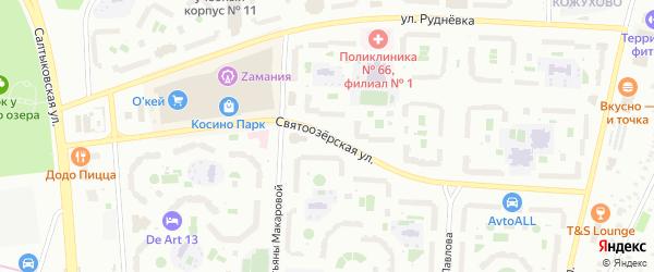 Святоозерская улица на карте Москвы с номерами домов