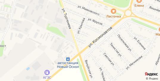 Полевая улица в Новом Осколе с номерами домов на карте. Спутник и схема онлайн