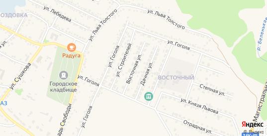 Восточная улица в Новом Осколе с номерами домов на карте. Спутник и схема онлайн