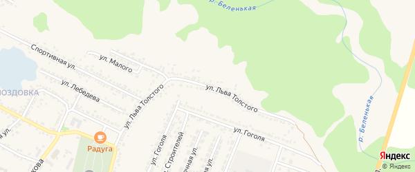 Улица Л.Толстого на карте Нового Оскола с номерами домов
