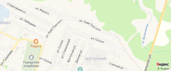 Улица Гоголя на карте Нового Оскола с номерами домов