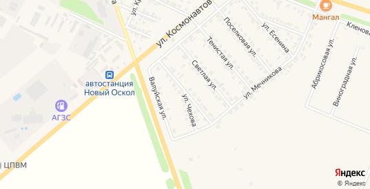 Улица Чехова в Новом Осколе с номерами домов на карте. Спутник и схема онлайн