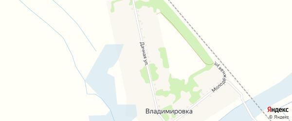 Дачная улица на карте хутора Владимировки Белгородской области с номерами домов