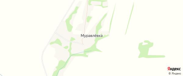 Карта деревни Муравлевки в Орловской области с улицами и номерами домов