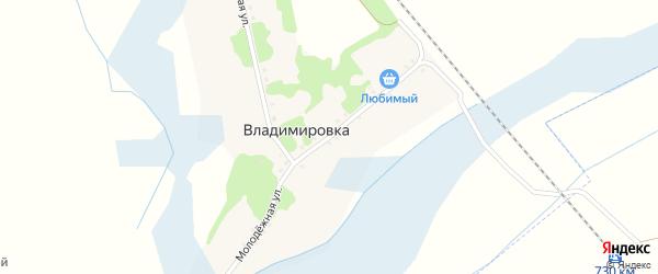 Молодежная улица на карте хутора Владимировки Белгородской области с номерами домов