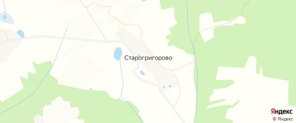 Карта деревни Старогригорово в Московской области с улицами и номерами домов