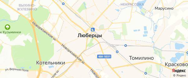Карта Люберец с районами, улицами и номерами домов: Люберцы на карте России