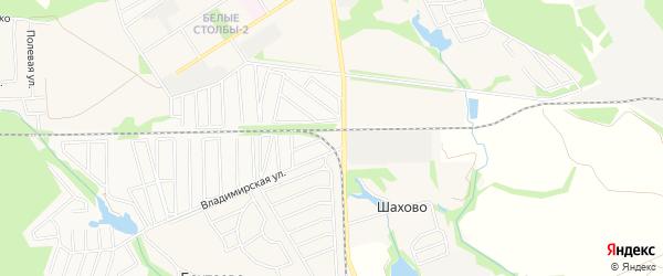 Территория владение СНТ Южный на карте Домодедово с номерами домов