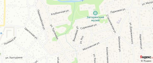 Вишнёвая улица на карте Васильевского квартала с номерами домов
