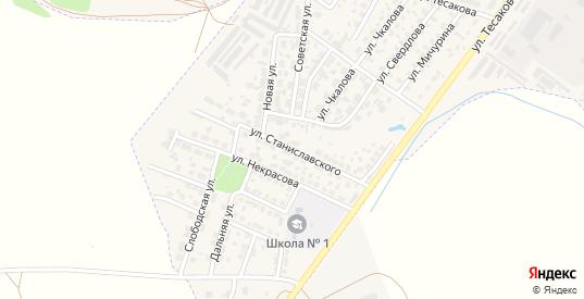 Улица Станиславского в Киреевске с номерами домов на карте. Спутник и схема онлайн