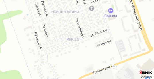 Улица Резникова в Череповце с номерами домов на карте. Спутник и схема онлайн