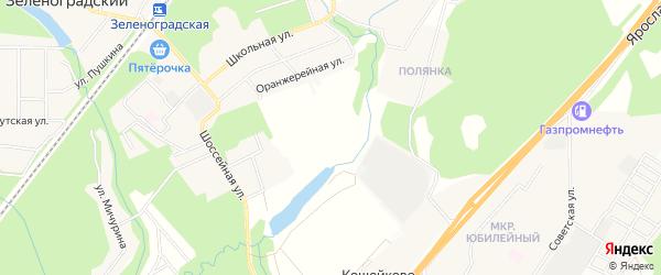 Территория СНТ Талица-1 на карте Пушкино с номерами домов