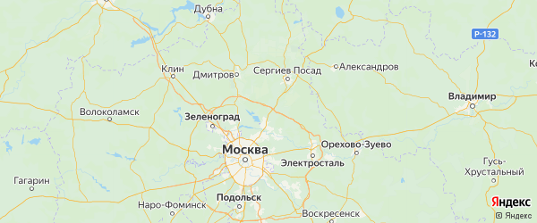 Карта Пушкинского района Московской области с городами и населенными пунктами