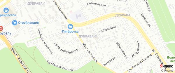 Микрорайон Дубрава квартал 2 на карте Старого Оскола с номерами домов