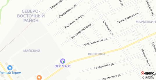 3-й Фестивальный переулок в Старом Осколе с номерами домов на карте. Спутник и схема онлайн