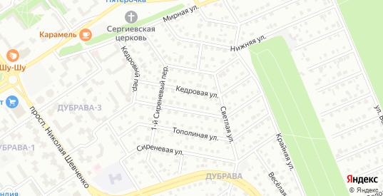 2-й Сиреневый переулок в Старом Осколе с номерами домов на карте. Спутник и схема онлайн