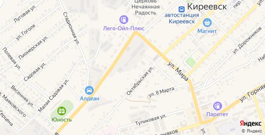 Весенний переулок в Киреевске с номерами домов на карте. Спутник и схема онлайн
