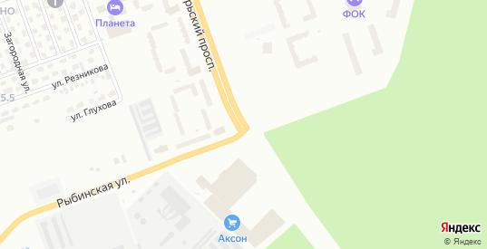 Рыбинская улица в Череповце с номерами домов на карте. Спутник и схема онлайн