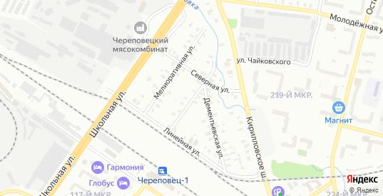 Болотный переулок в Череповце с номерами домов на карте. Спутник и схема онлайн