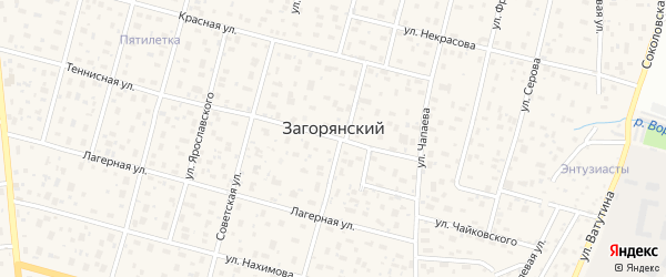 Улица Ф.Энгельса на карте Загорянского поселка с номерами домов
