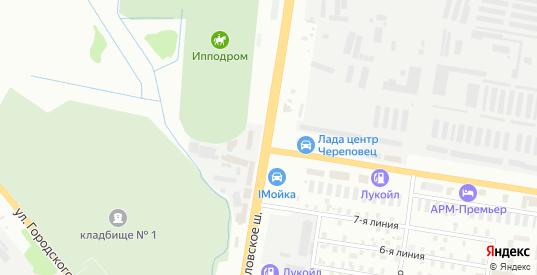 Кирилловское шоссе в Череповце с номерами домов на карте. Спутник и схема онлайн