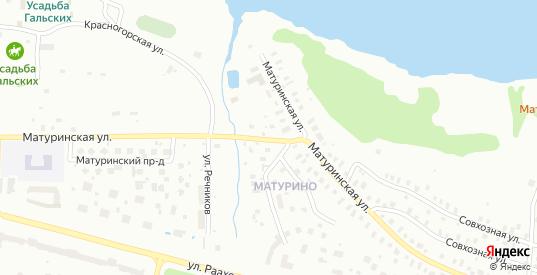 Матуринская улица в Череповце с номерами домов на карте. Спутник и схема онлайн