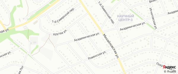 Крутой переулок на карте Старого Оскола с номерами домов