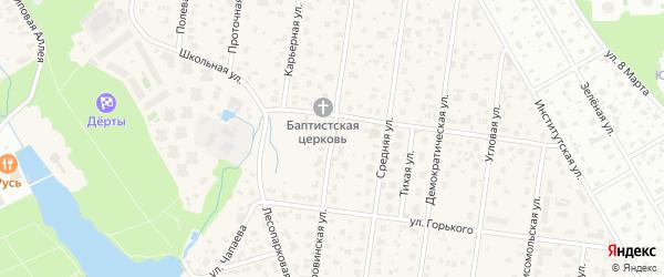 Дубровинская улица на карте микрорайона Салтыковки с номерами домов