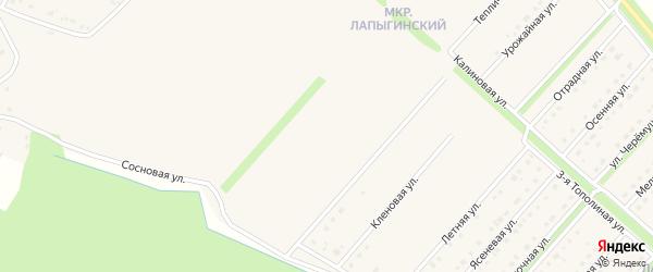 Вербная улица на карте Новокладового села с номерами домов