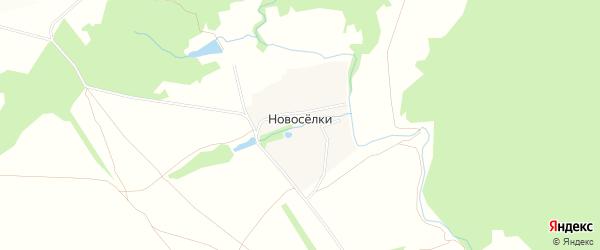 Садовое товарищество Спецремстроймонтаж на карте деревни Новоселки Тульской области с номерами домов