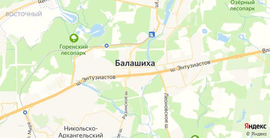 Карта Балашихи с улицами и домами подробная - показать